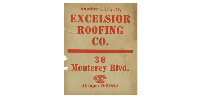 Excelsior Roofing Poster