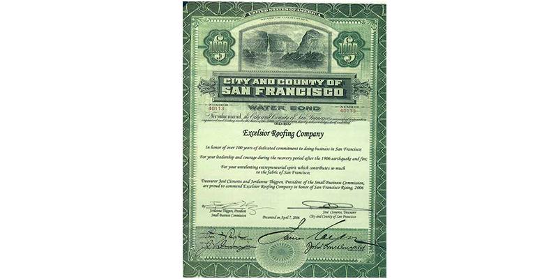 San Francisco Water Bond